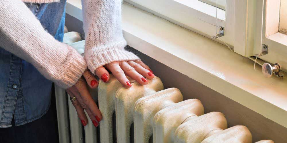 hands on radiator
